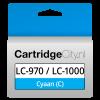 Brother LC-970C LC-1000C Cyaan Huismerk
